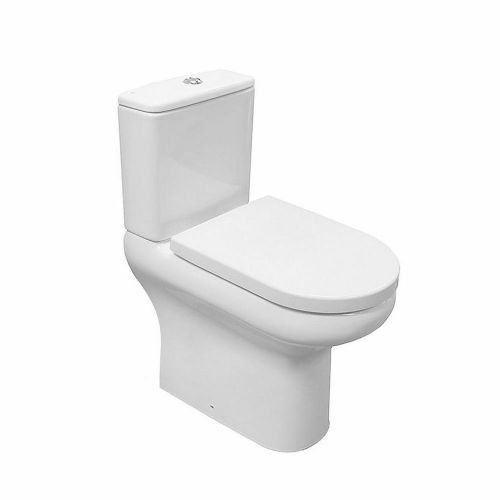 RAK Compact Rimless Full Access Close Coupled Toilet & Soft Close Seat